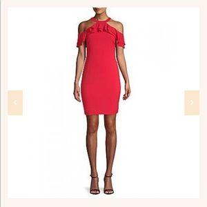 Julia Jordan hot Red salsa dress